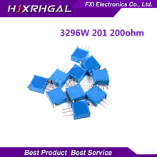 10pcs 3296W-1-201LF 3296W 200 ohm 201 3296W-1-201 3296W-201 W201 Trimpot Trimmer Potentiometer