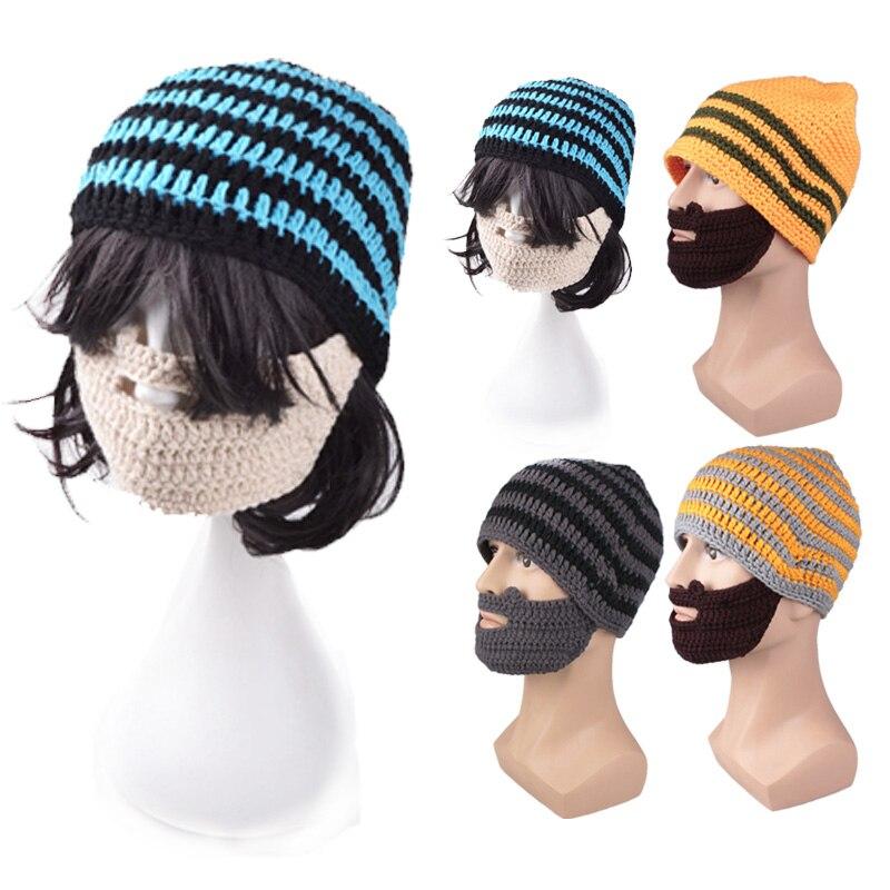 ٩(^‿^)۶Estilo de la moda de punto invierno cálido sombrero de barba ...