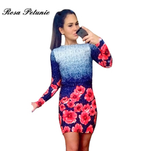 New Summer Style Sheath Dresses Casual Ladies dress Women clothing elegant sexy fashion o-neck printed dresses