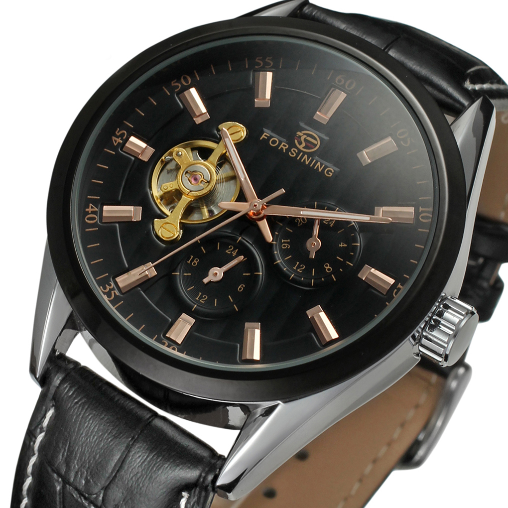 2019 FORSINING  Top Brand New Collection Transparent Black Leather Skeleton Luxury Men Mechanical Watch LuxuryAutomatic Watches2019 FORSINING  Top Brand New Collection Transparent Black Leather Skeleton Luxury Men Mechanical Watch LuxuryAutomatic Watches