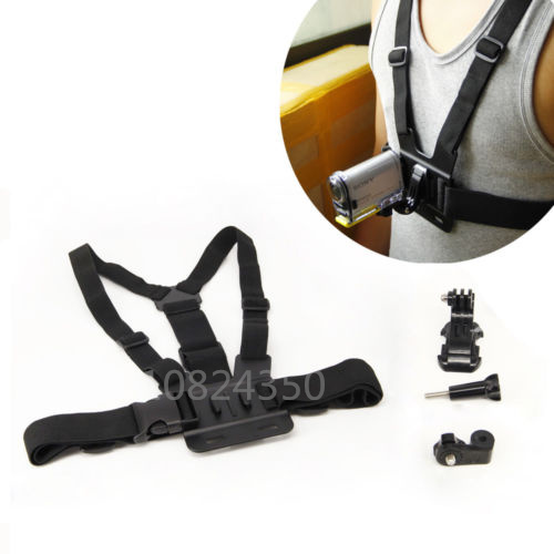 4in1 1set Chest strap mount + Long screw + adapter mount + J-Hook For Sony Action Cam HDR-AS15 AS20 AS30V AS100V AS200V