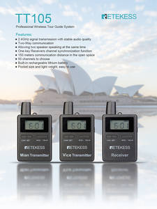 Retekess Guide-System Conference 2-Transmitter Wireless-Tour Professional 10-Receiver