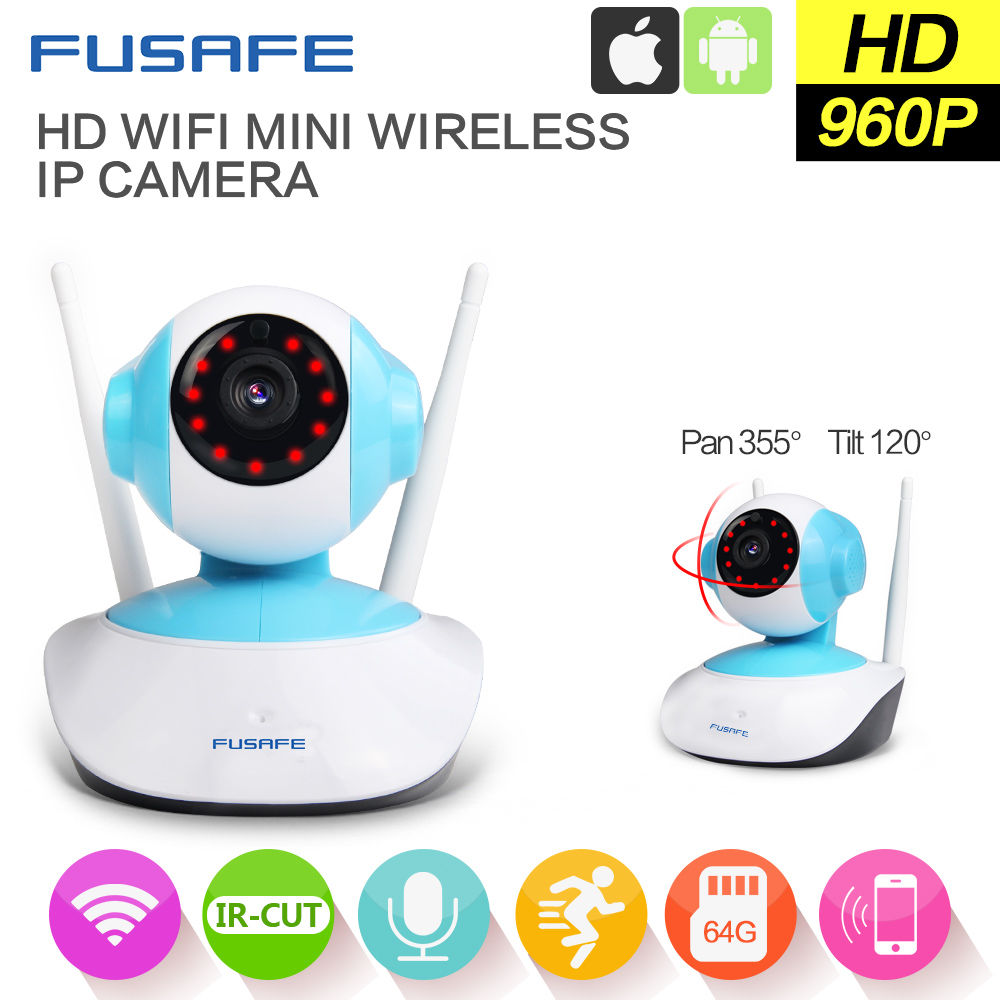 FUSAFE 2PC 960P Wireless PTZ IP Camera Wifi CMOS Night Vision H264 PTZ IR Security Camera Motion Detection Home Security Onvif hd 720p onvif 2 0 security antenna ip camera wifi cmos night vision h264 ptz motion detection ir indoor security camera
