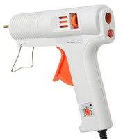 Professional AC 100 240V 50 60Hz 100W Adjustable Temperature Hot Melt Glue Pistol Copper Nozzle Repair