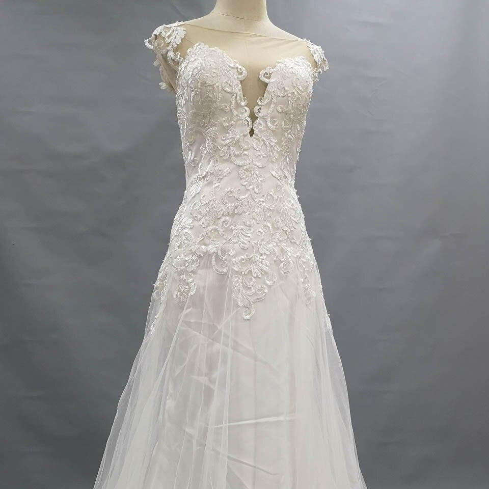 Greenspine New Mariage Wedding Dress A Line 2019 Vintage