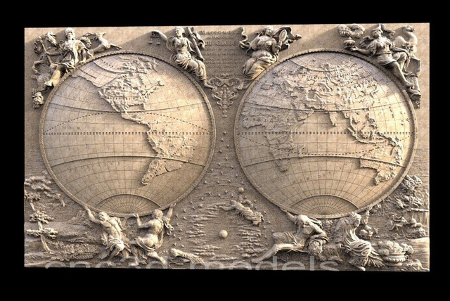 Earth 3d model relief stl for cnc router carving and engraving