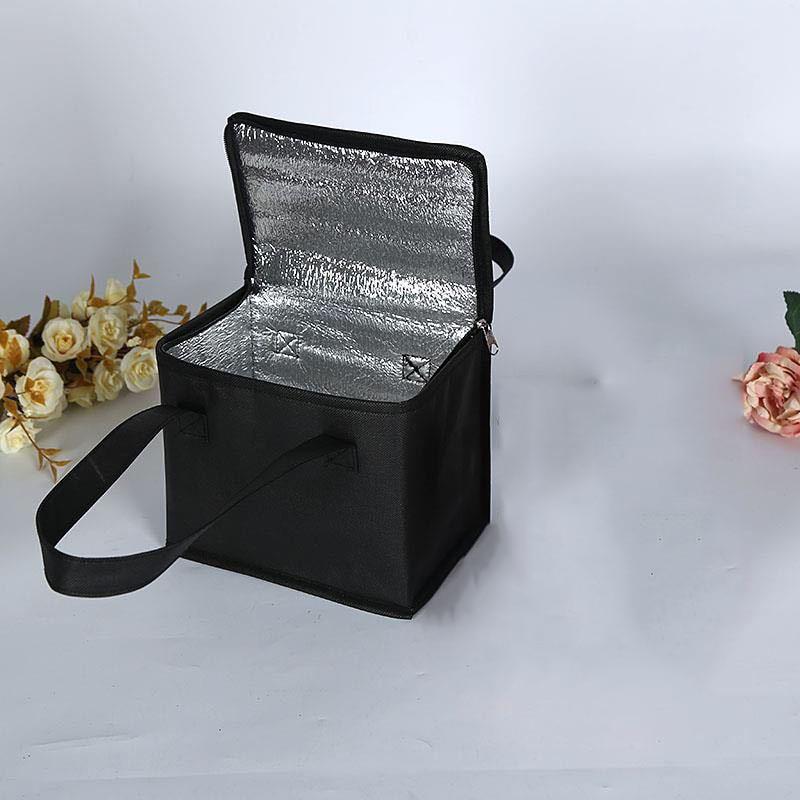 점심 쿨러 가방 절연 접이식 피크닉 휴대용 아이스 팩 식품 열 가방 식품 배달 가방 음료 캐리어 절연 가방
