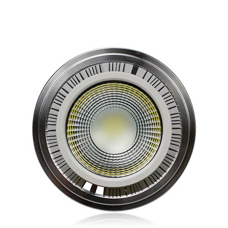 COB светодиодный AR 111 светодиодный GU10 AR111 GU10 G53 220 V 110 V, 7 Вт, 9 Вт, 12 Вт, 15 Вт светодиодный AR111 лампы AC85-265V Теплый Холодный белый возможность замены галлогеновой лампой