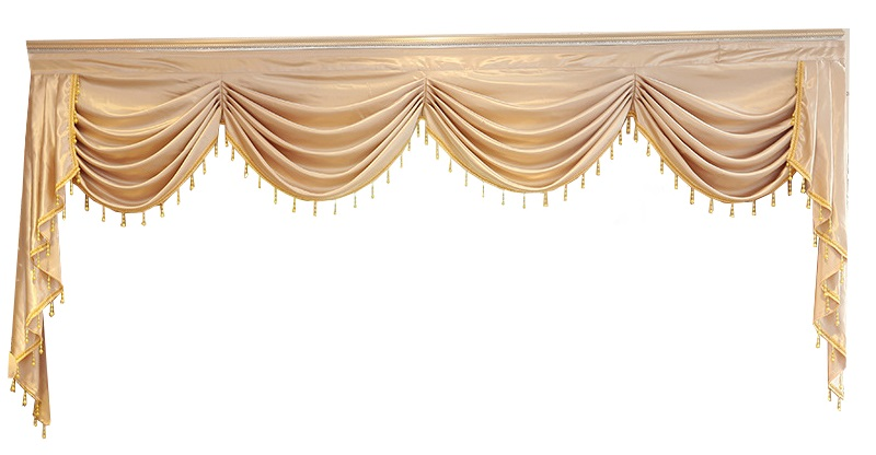 Curtains for Living Room Valance Swag Lambrequin for Dining Room Curtains for Bedroom Luxury Window Swag European Royal Style