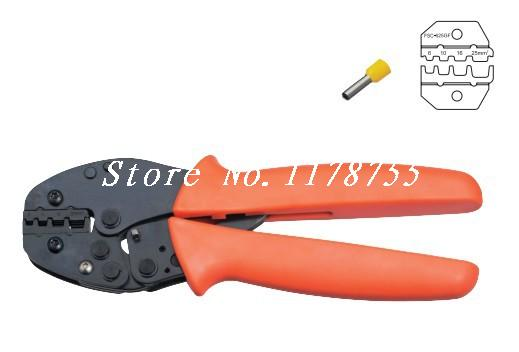 FSC-625GF Cable End-sleeves Wire Crimping Plier Crimper AWG 10-4 dwz new 6 50mm lx 50b wire terminal crimper tool cable lug crimping plier connector