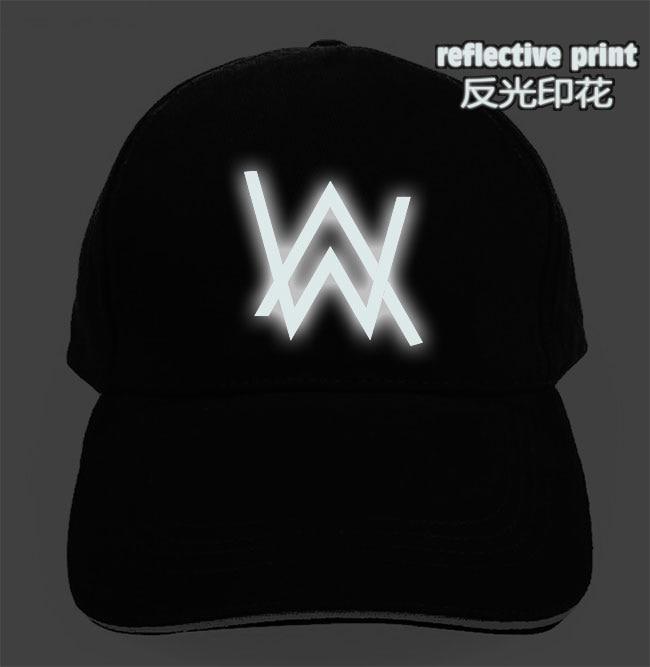38fb923f DJ music reflective glow in dark alan walker Men women cap Snapback hats  hip hop golf caps sun visor street skateboard casquette-in Sun Hats from  Apparel ...