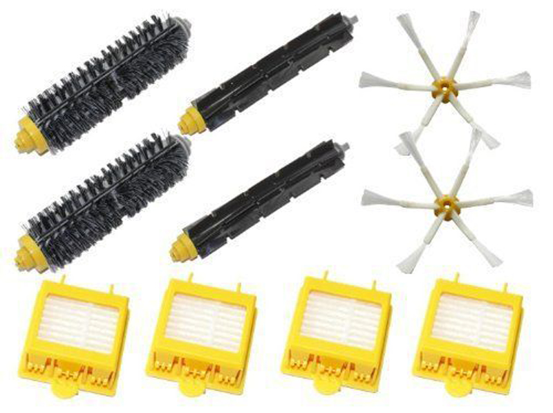 New Filters Beater & Bristle Brush Side Brush 6 armed Pack for iRobot Roomba 700 Series 6 Armed 760 770 780 hepa filters bristle brush flexible beater brush 3 armed side brush pack set for irobot roomba 700 series 760 770 780 790