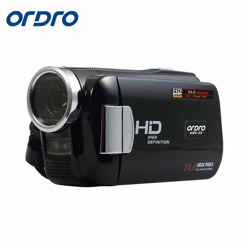ORDRO Video Camera HDV 1080P Digital Video Camera 24MP 4xDigital  Zoom 3.0 Screen 5MP CMOS Videocameras DV HDMI Output