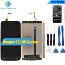 DOOGEE T6 LCD için lcd'ler Ekran + Dokunmatik Ekran Digitizer Meclisi Yedek DOOGEE T6 pro 1280X720 5.5 inç 100% Test Ekran