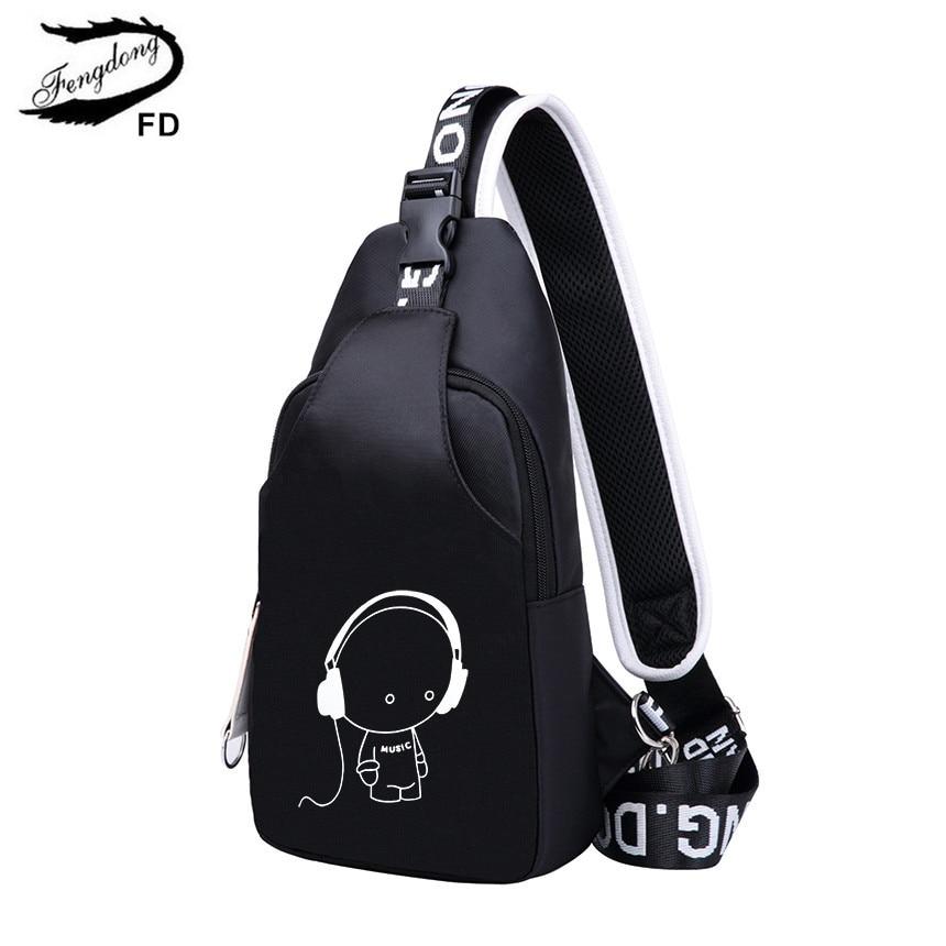 Image 4 - Женский дорожный рюкзак FengDong, черный водонепроницаемый рюкзак  для ноутбука, школьная сумка для девочекРюкзаки