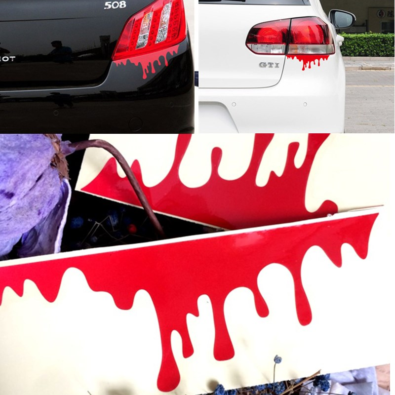 automobiles & motorcycles Car styling Blooding Style Refletive material sticker decal approx. 20*7cm