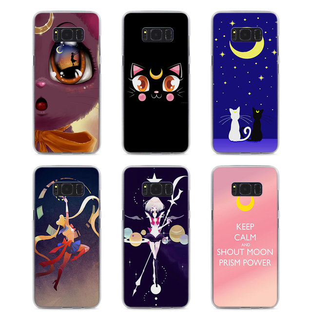 new concept 5ad54 8a2d6 Anime sailor moon lune kat ontwerp hard transparante Case voor Samsung  Galaxy S8 Plus S6 S7 rand s5 note 5 4 in Anime sailor moon lune kat ontwerp  ...