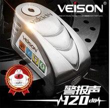 VEISON Motorcycle Waterproof Alarm Lock Bike Steelmate Disc Warning Security Anti theft Brake Rotor Padlock Alarma Moto