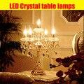 Moda de cabeça k9crystal candeeiro de mesa de luxo de alta qualidade candeeiro de mesa de cristal para lobby quarto candeeiro de mesa abajur de mesa lamparas