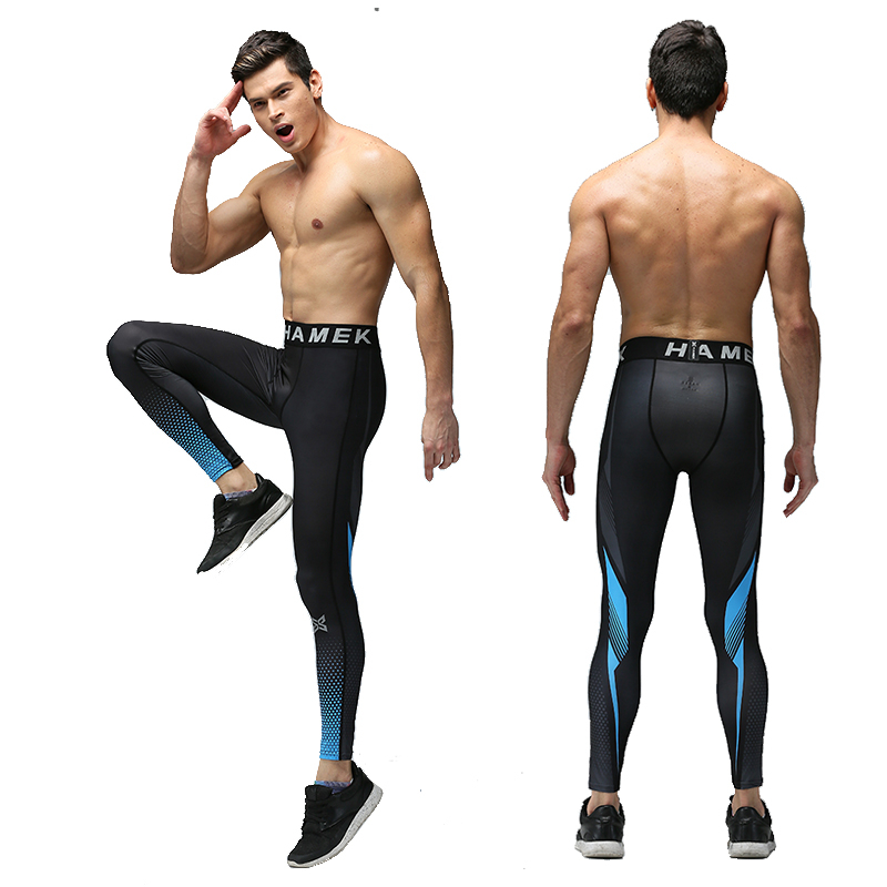 Compression mens running pants sports basketball soccer tights yoga jogger jogging pants fitness skinny leggings pants trousers