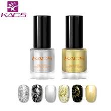 KADS 2 pièces/ensemble d'estampage d'ongles ensemble de vernis vernis à ongles spécial pour estampage nail art modèle polonais pour tampons à ongles polonais