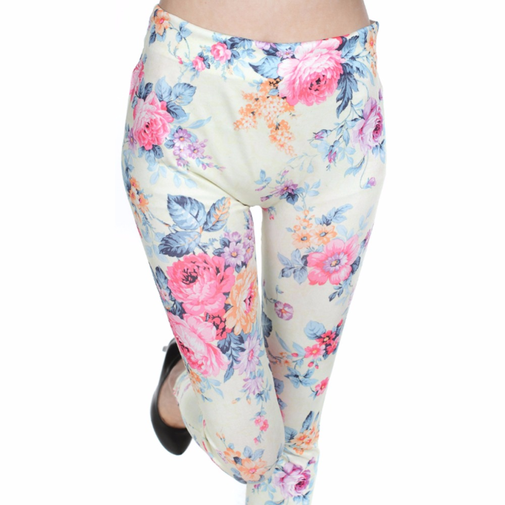 Summer Yoga Pants leggings Red Roses Printed Mid Waist Trousers Legging Ankle-Length Sports Pants Jogging Sportswear #h030#