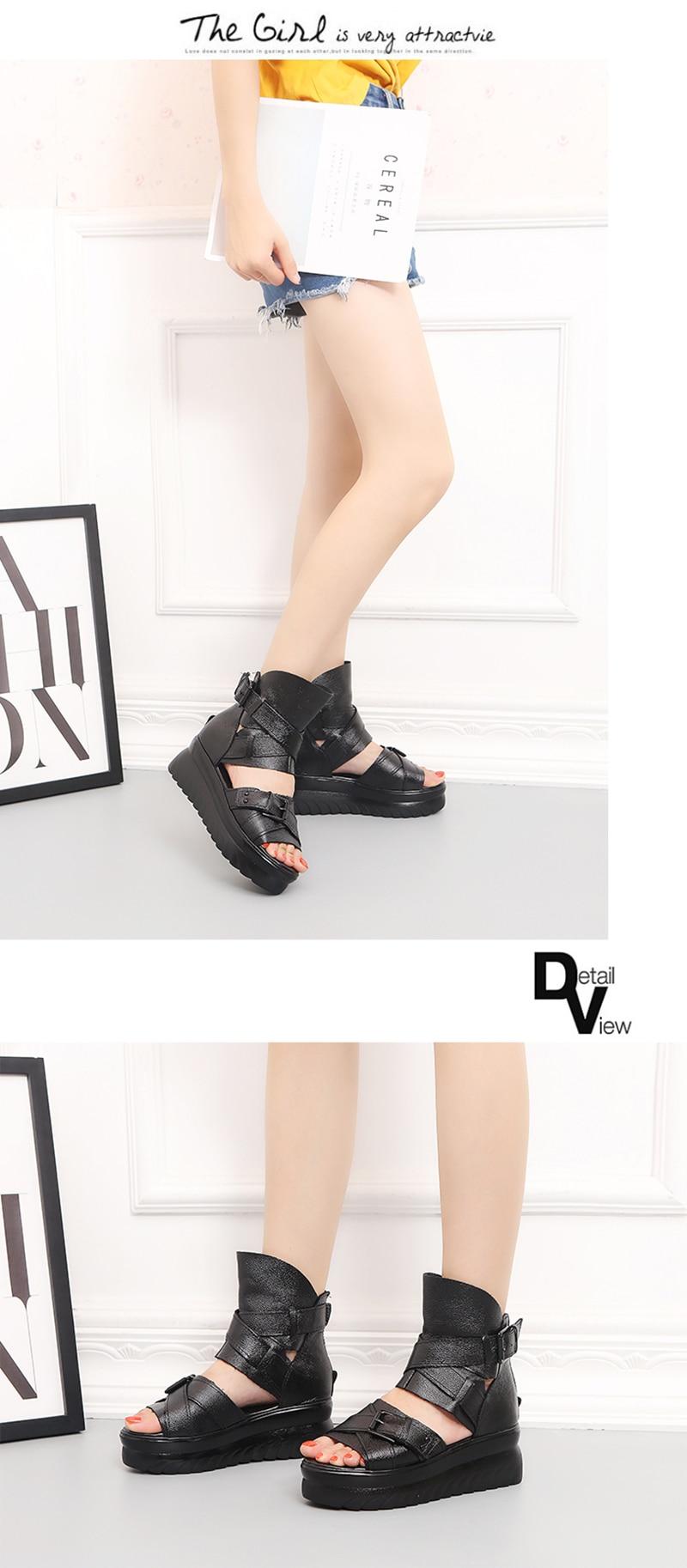 HTB1EJrZelKw3KVjSZFOq6yrDVXaq ADBOOV Genuine Leather Platform Sandals Women Summer Wedges Shoes For Women Sandalias De Verano Para Mujer Size 35-43