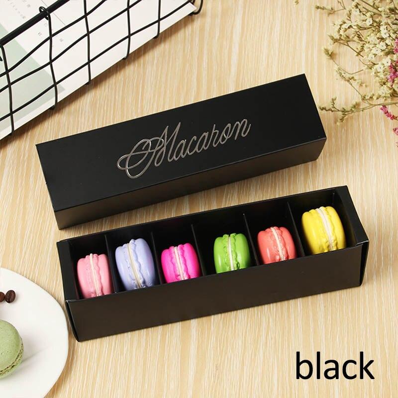 Макаронная упаковка, коробка, красиво упакованная, для свадебной вечеринки, для хранения торта, бумажная коробка для печенья, украшения торта, Аксессуары для выпечки - Цвет: Черный