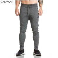 GANYANR Running Pants Men Sport Leggings Basketball Training Fitness Jogging Gym Athletic Football Sweatpants Elastic Workout