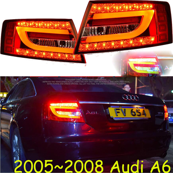 2pcs tuning cars Tail lights For A6 2005-2008 Taillights LED DRL Running lights Fog lights a6 Rear parking lights