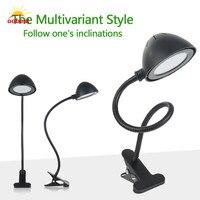 New Flexible Desk Table Light LED Study Reading Lights Clip On Bed Lamp Black Gift For