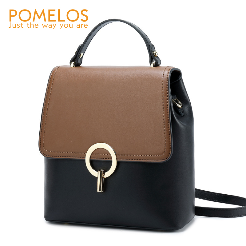 POMELOS Fashion Backpack Women High Quality Split Leather Women Backpack Rucksack Woman Travel Bagpack Small Backpack