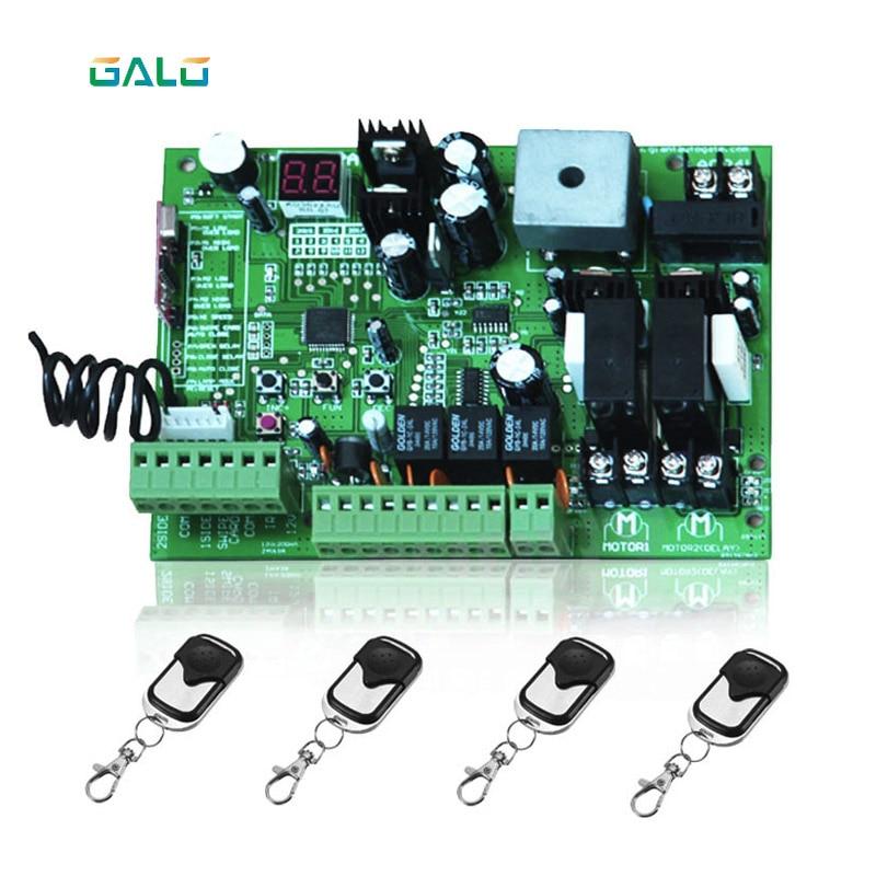 Uso Universal 24 v DC PCB placa de placa de controle de portão Automático Duplo balanço braços painel, motor (opção Remota)