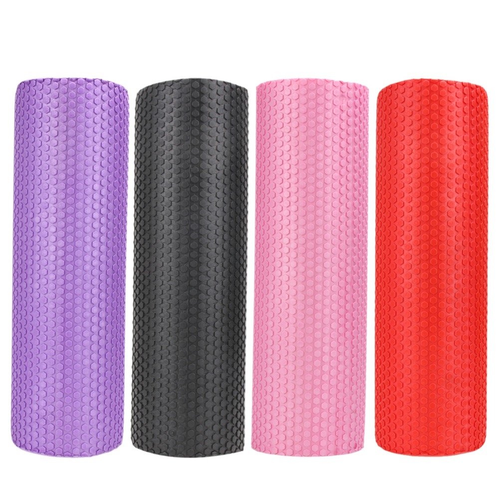 45x15cm 4 Colors EVA Point Yoga Foam Roller Blocks High Density Floating Point Massage Fitness Muscle Tissue Yoga Pilates Roller elite fitness massager roller stick trigger point muscle roller exercise therapy releasing tight body massage tool gym rolling