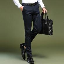 Men Business Pants 2018 Male Pure Color Formal Slim Fit Dress Pants Men Trousers Office Pantalon Hombre Vestir Social Suit Pants