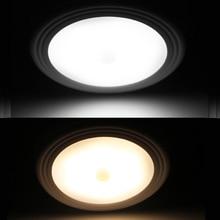 PIR Motion Sensor Under Cabinet Closet Light Magnetic Wireless Detector 6 LED
