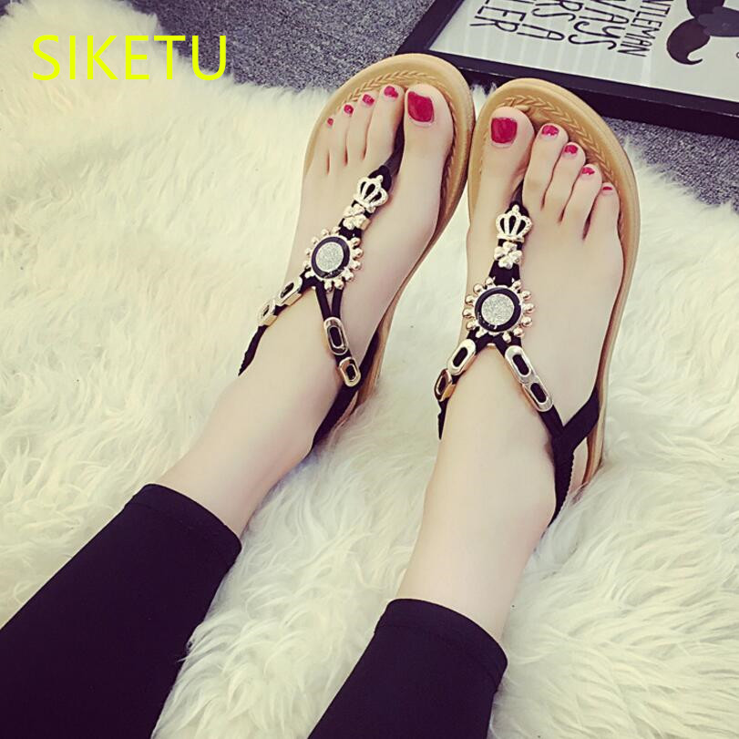 SIKETU Free shipping Summer sandals Fashion casual shoes sex women shoes flip flop Flat shoes Flats l022 Simple flip flop Hollow free shipping candy color women garden shoes breathable women beach shoes hsa21
