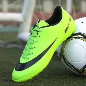 best service d1f8f 66496 ZHENZU Men Indoor Soccer Shoes TF Kids Football Boots chaussure de foot