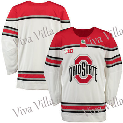 Throwback Hockey Jersey Dhiostate Ohio State Buckeyes University Mens Custom any Number and name Hockey Jersey White S-6XL 2015 61 men s hockey jersey