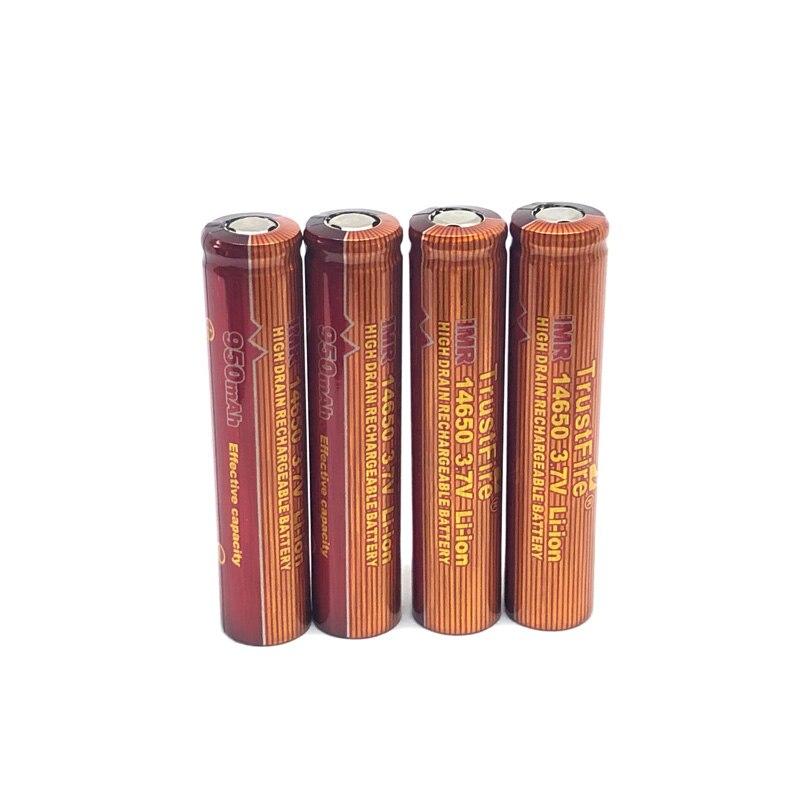 12pcs lot TrustFire IMR 14650 3 7V 950mAh Li ion High Drain Rechargeable Battery For Electronic Cigarette Output 10A Batteries in Rechargeable Batteries from Consumer Electronics