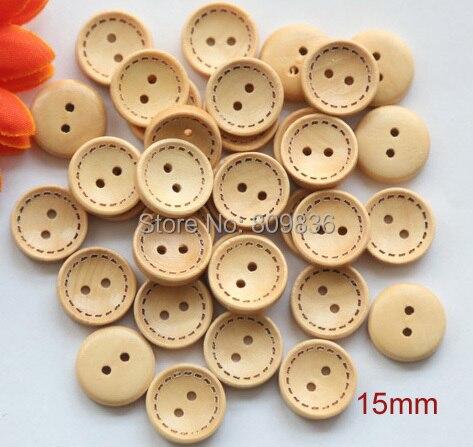 30pcs Lot Size 15 18 20mm Vintage 2 Holes Natural Color On