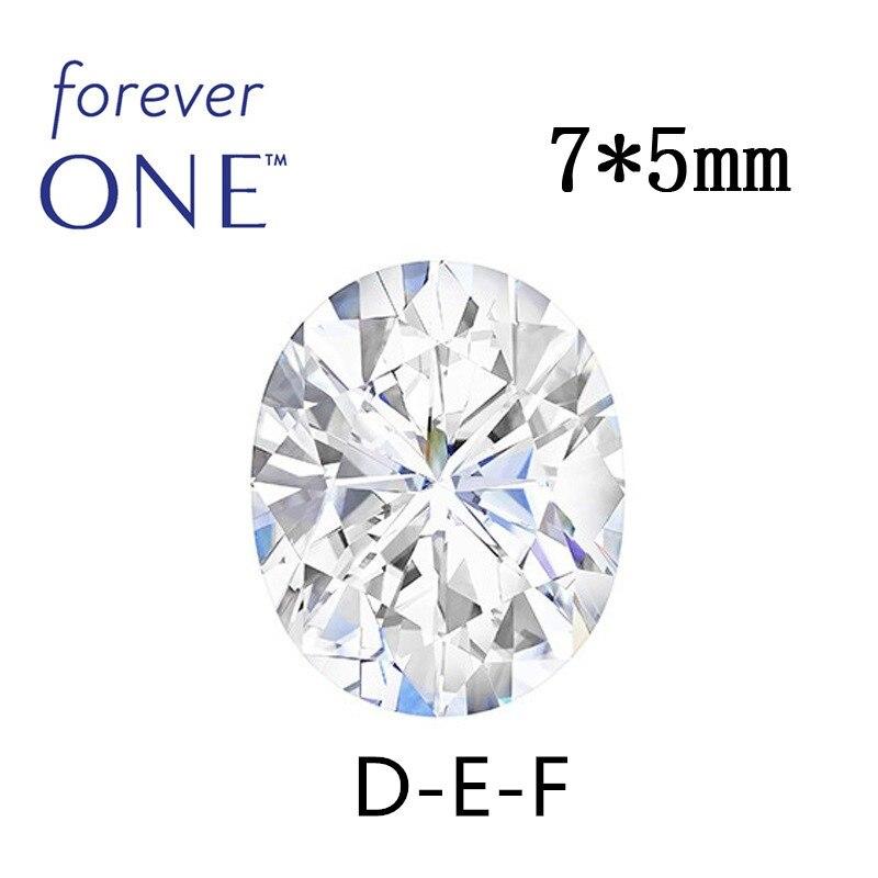 Certifié 0.8CT taille ovale blanc Moissanite pierre VS F incolore Charles Colvard pour toujours un Test de diamant de pierre gemme en vrac positif
