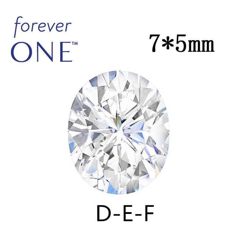 Certified 0.8CT Oval Cut White Moissanite Stone VS F Colorless Charles Colvard Forever One Loose Gemstone Diamond Test Positive цена