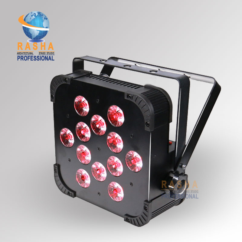 Rasha Quad V12-12pcs*10W 4in1 RGBW/RGBA LED Slim Par Profile,LED Flat Par Can,Disco Stage Event Light 2x lot rasha quad factory price 12 10w rgba rgbw 4in1 non wireless led flat par can disco led par light for stage event party