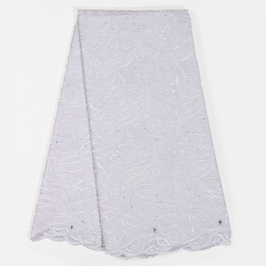 Image 5 - Latest African Lace Fabric Soft Swiss Lace Fabric With Stones High Quality Embroiderey Cotton Swiss Voile Lace In Switzerland