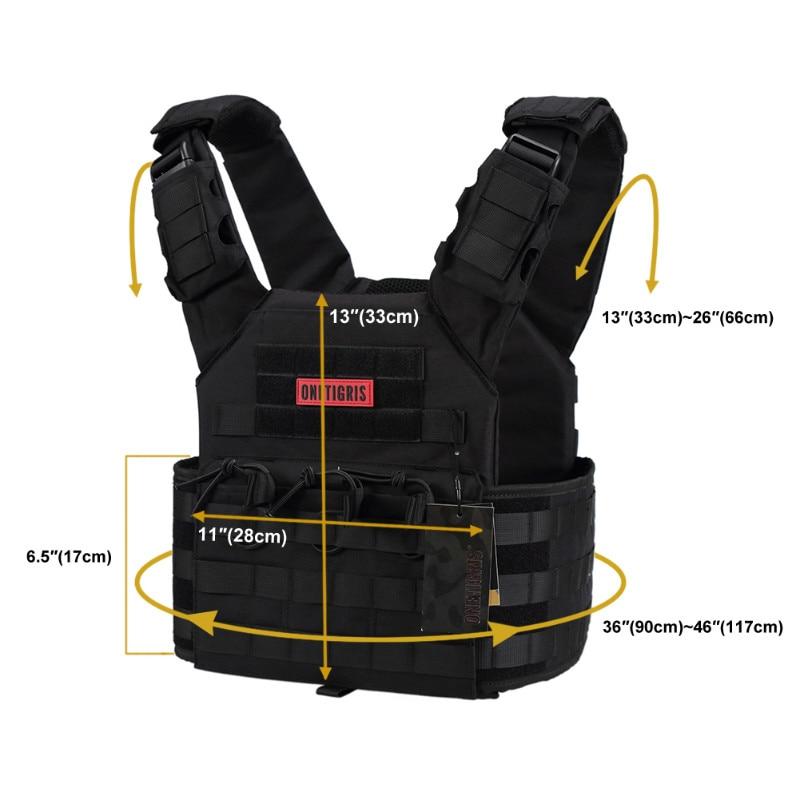 OneTigris Outdoor Kamizelka CS Sprzęt wojskowy 500D Nylon Cloth JPC - Ubrania sportowe i akcesoria - Zdjęcie 2