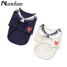 Nunubee Naval Style Pet Dog Hoodie Cat Puppy Cotton Sweater Hoodie T-shirt Clothing Clothes XS S M L XL XXL XXXL