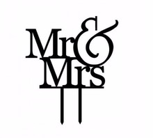 1 Piece Wedding Cake stand Mr & Mrs Topper Decorations Toppers Supplies decoracion boda