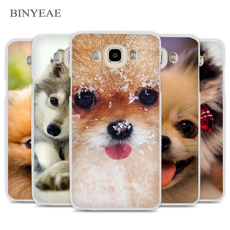 BINYEAE Pomeranian dog dogs Phone Case Cover for Samsung Galaxy J1 J2 J3 J5 J7 C5 C7 C9 E5 E7 2016 2017 Prime