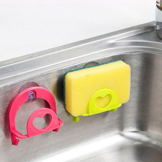 1 pz Asciugamano Mensola del Bagno Soap Dish Holder Cucina Piatto Lavello spugna